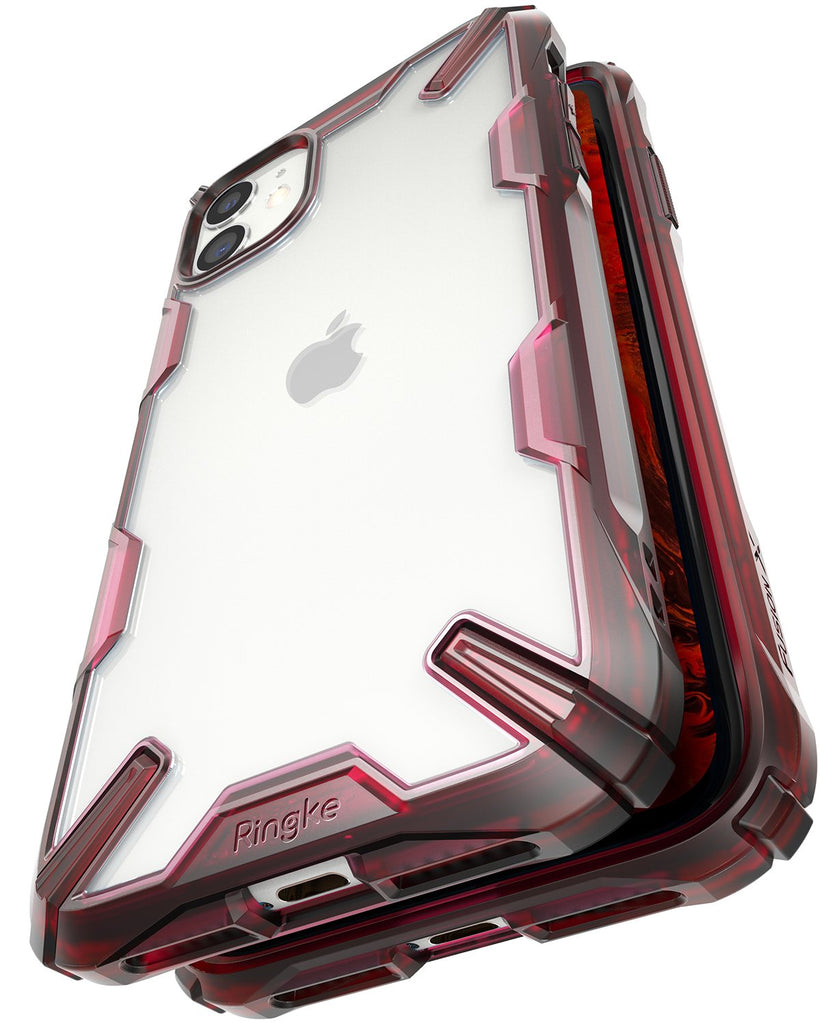 Ringke Fusion-X designed for iPhone 11 Ruby Red