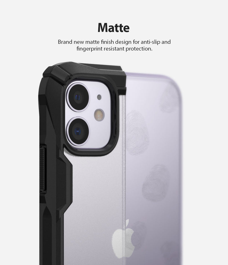ringke fusion-x black matte case compatible with iphone 11 (2019)