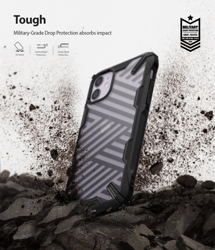 Ringke Fusion X Design Case Compatible with iPhone 11 Case Camo Black Drop Protection Tough
