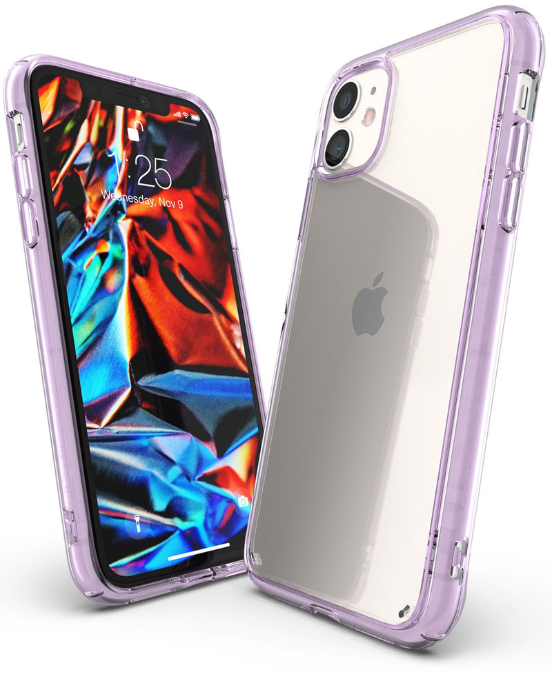 Ringke Fusion Designed for iPhone 11 Case, iPhone XI Case, iPhone 11R Case Cover (2019)_Lavender