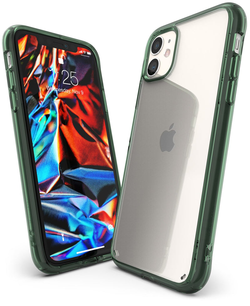 Ringke Fusion Designed for iPhone 11 Case, iPhone XI Case, iPhone 11R Case Cover (2019)_Pine Green
