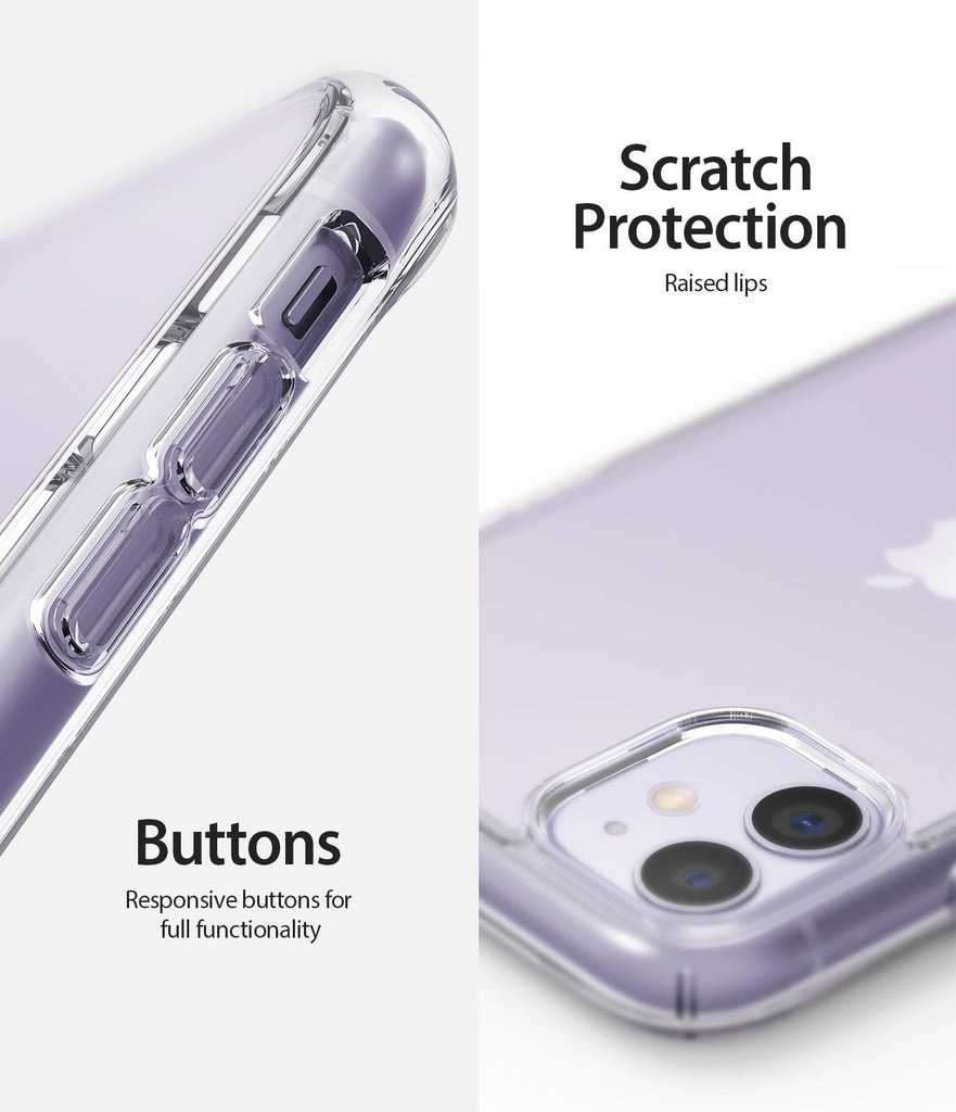 Ringke Fusion designed for iPhone 11 Case Clear Scratch Protection Buttons