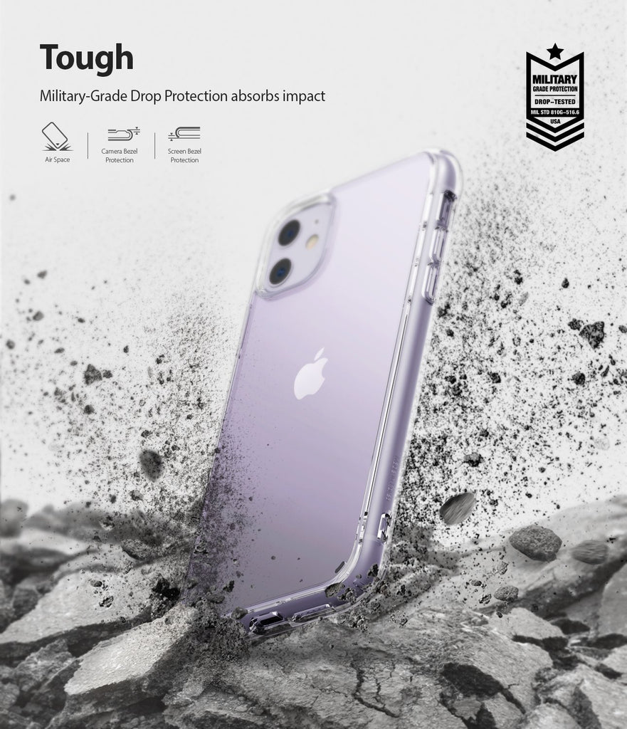 Ringke Fusion designed for iPhone 11 Case Clear Tough Military Grade Drop Protection