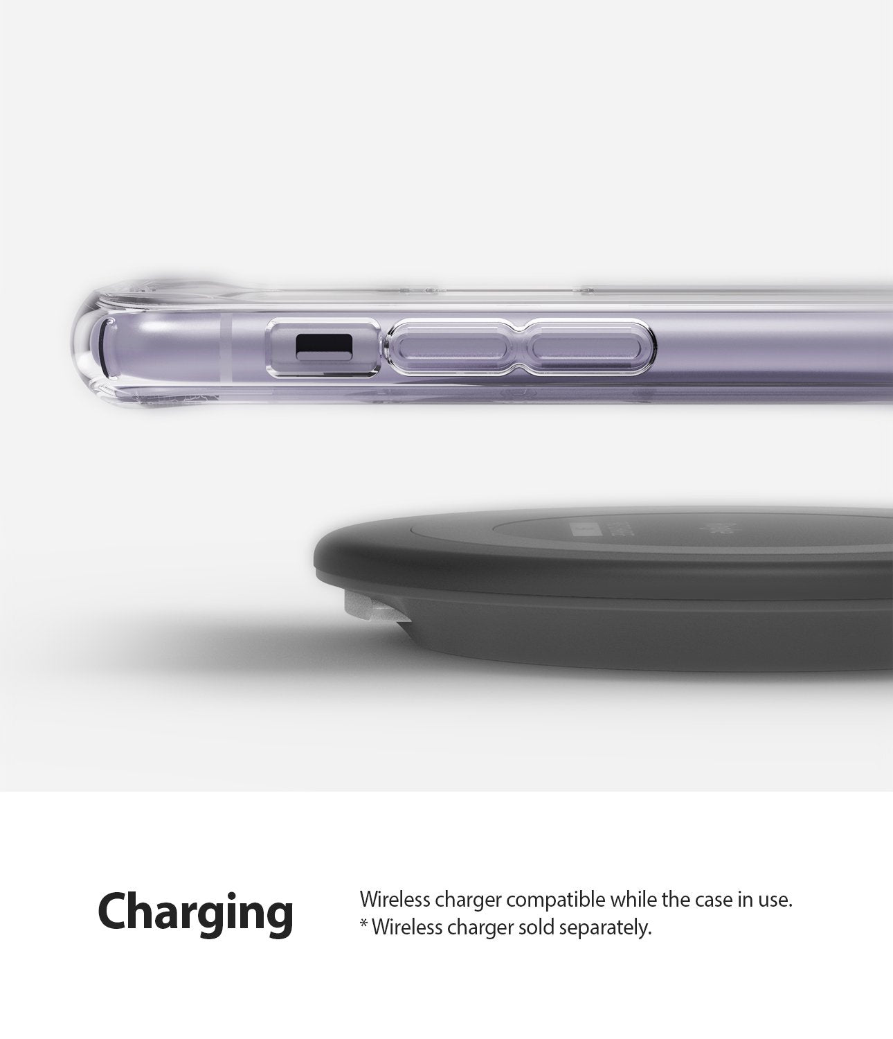 Ringke Fusion designed for iPhone 11 Case Clear Wireless Charger Compatibility