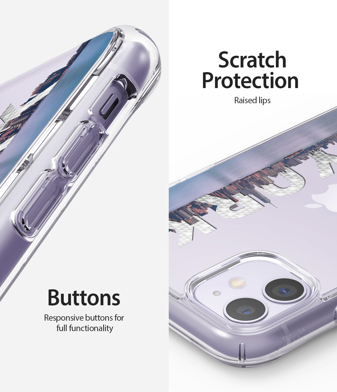 scratch protection / repsonsive buttons