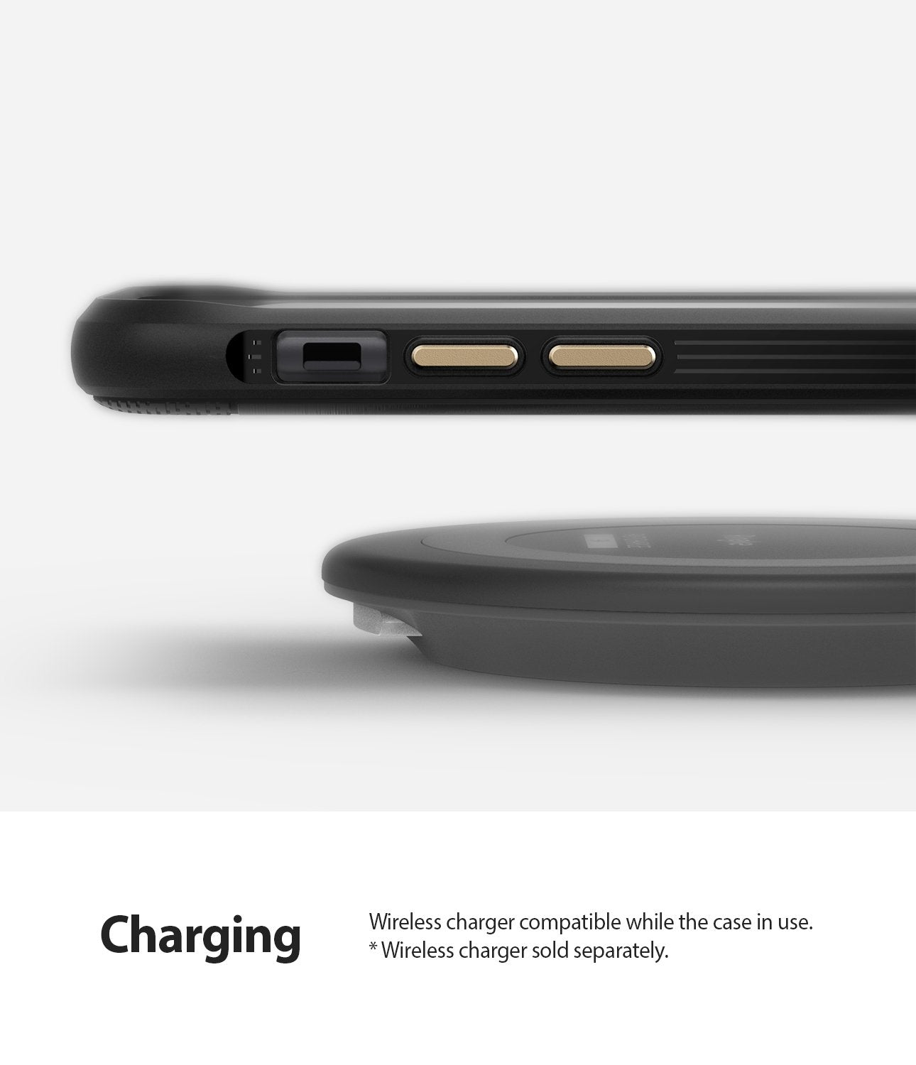 Ringke Onyx designed for iPhone 11 Black Wireless Charger Compatible