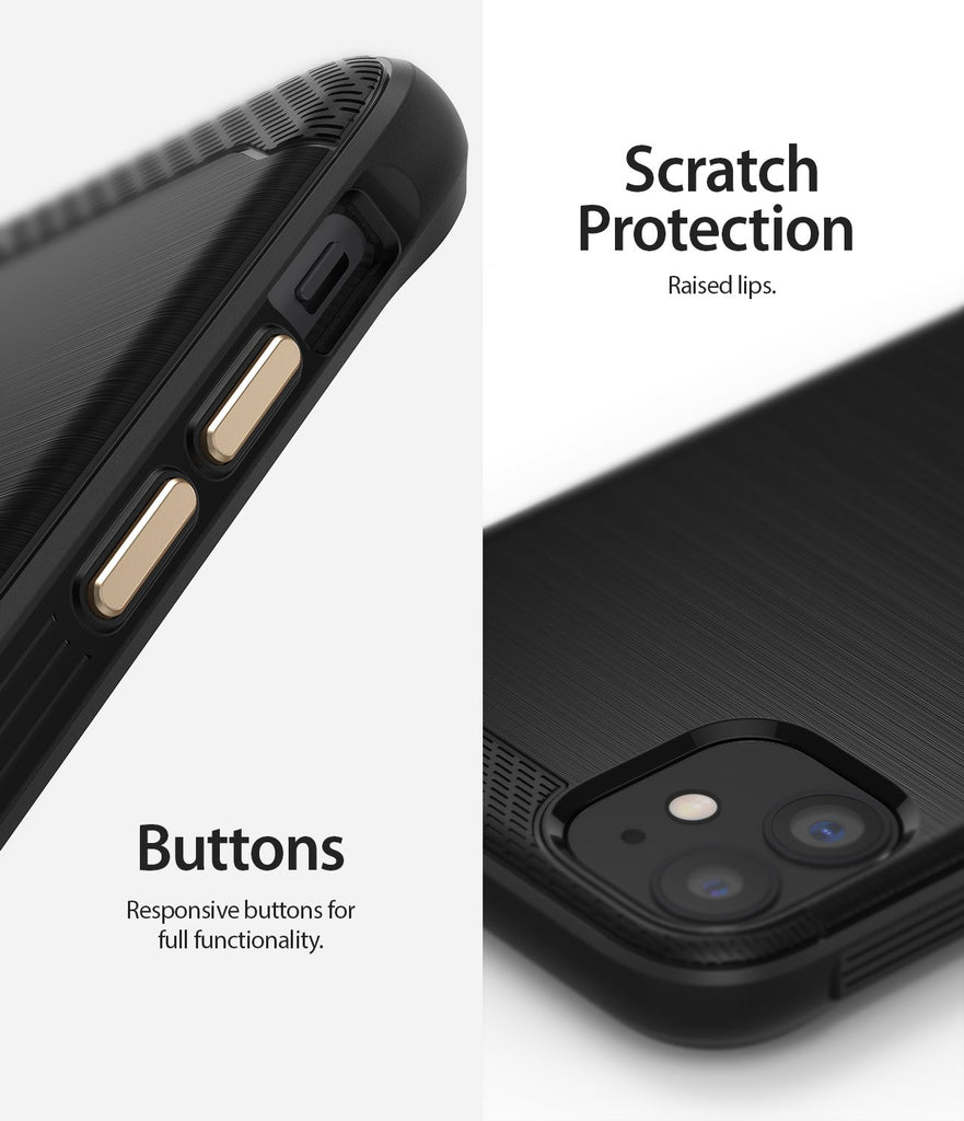 Ringke Onyx designed for iPhone 11 Black Scratch Protection Buttons