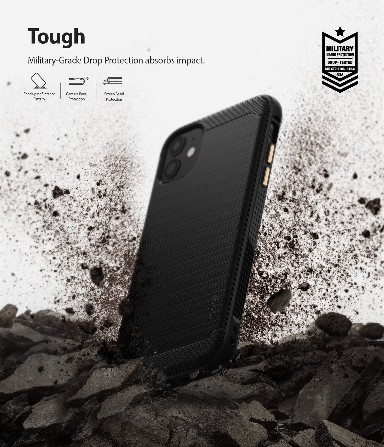 Ringke Onyx designed for iPhone 11 Black Tough Drop Protection