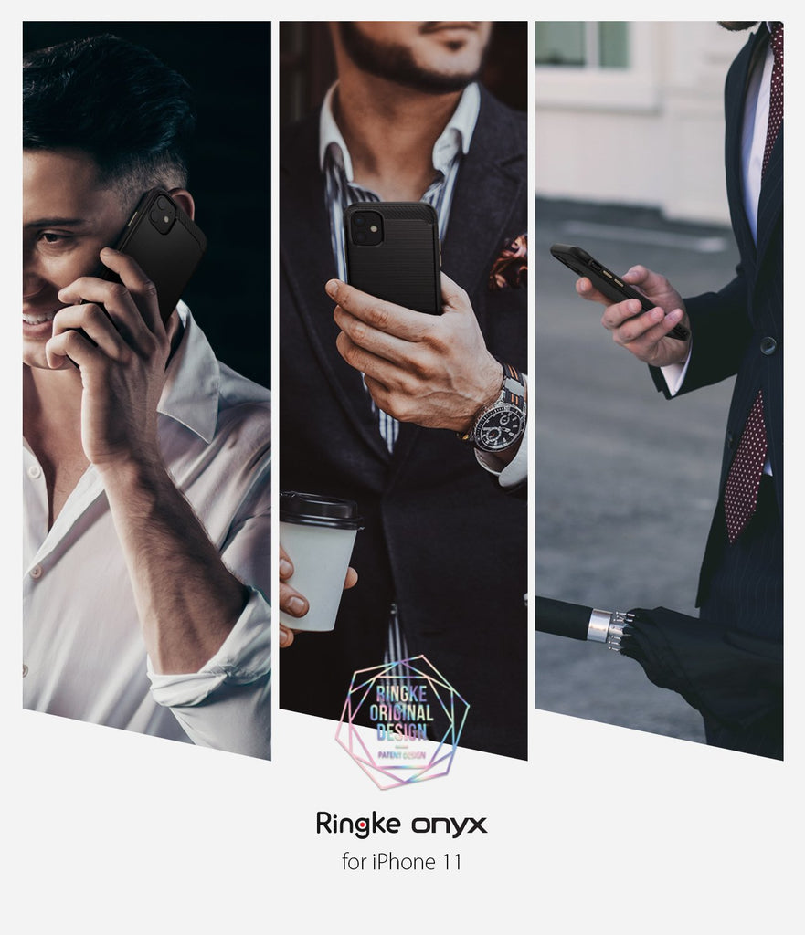 Ringke Onyx designed for iPhone 11 Black Comfortable Grip