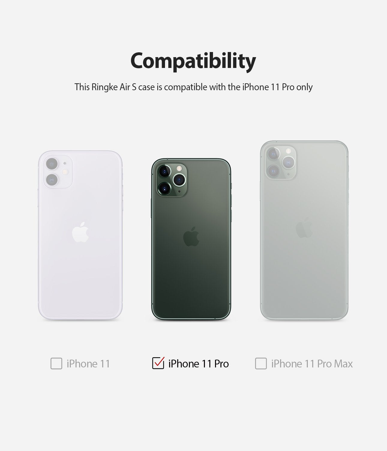 Ringke Air-S designed for iPhone 11 Pro Case compatibility