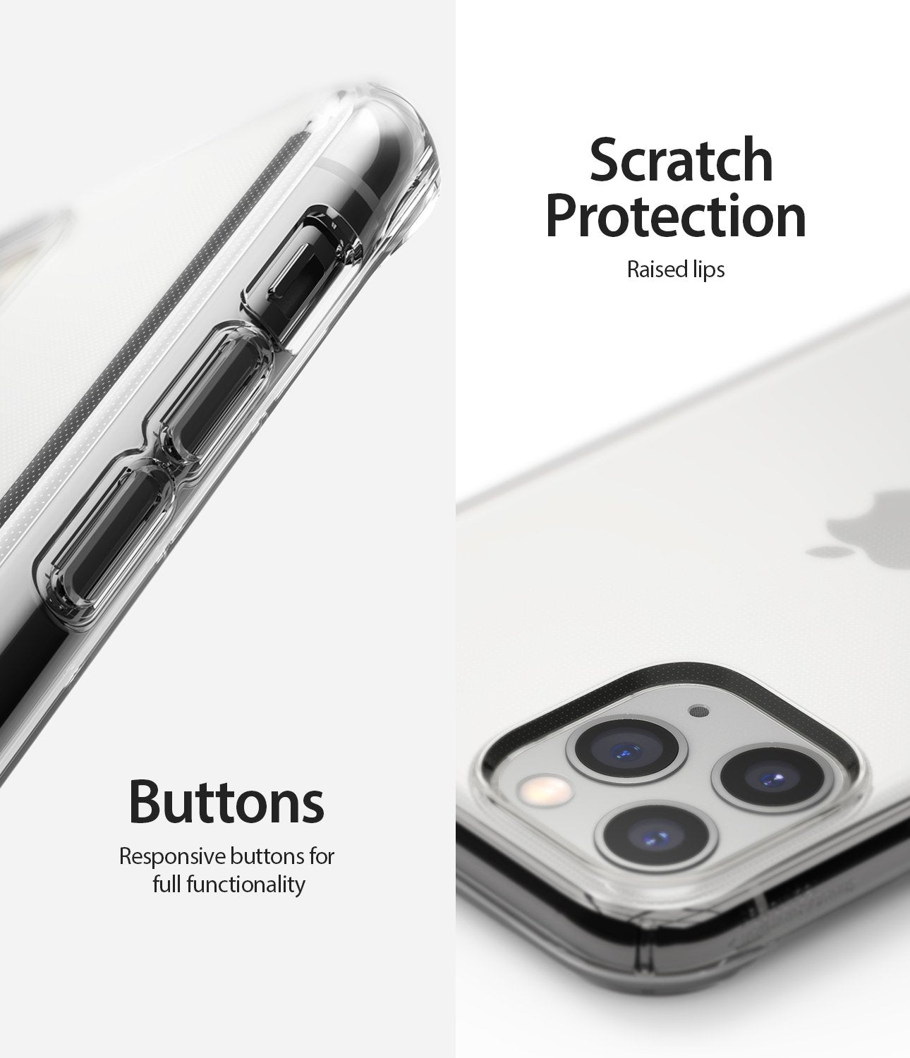Ringke Air designed for iPhone 11 Pro Case clear scratch protection buttons