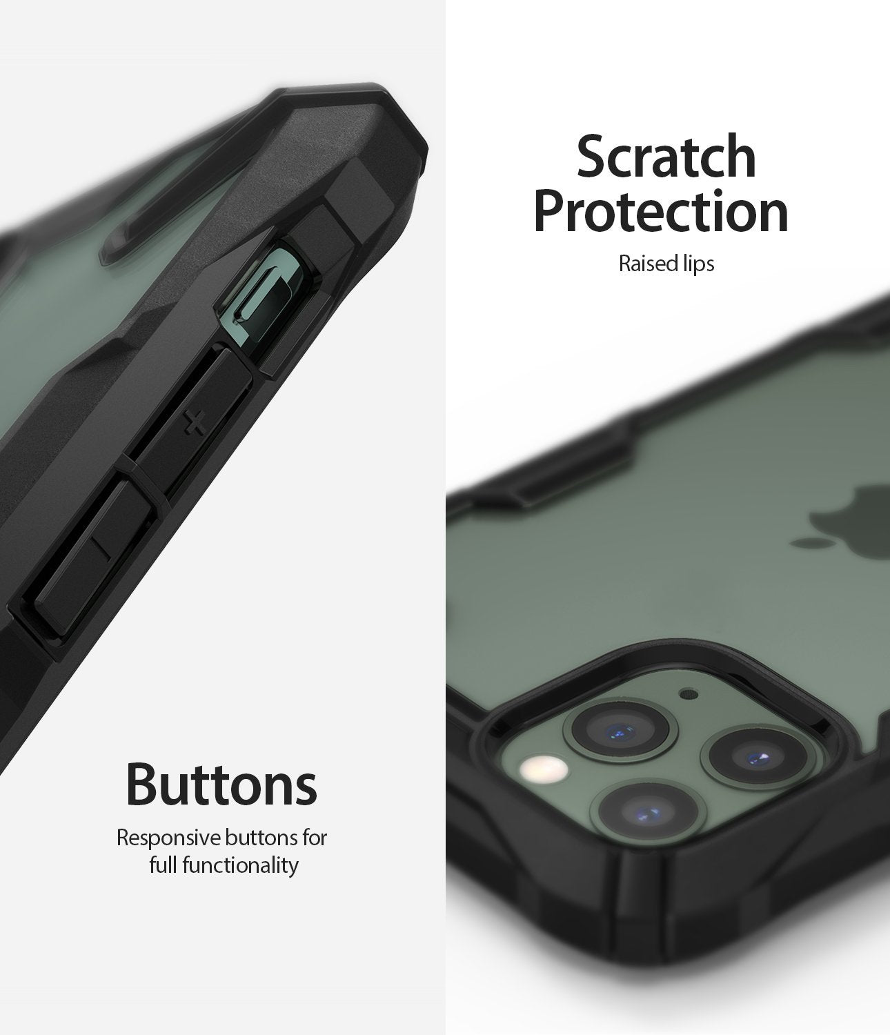 iPhone 11 Pro Case Fusion-X black scratch protection button