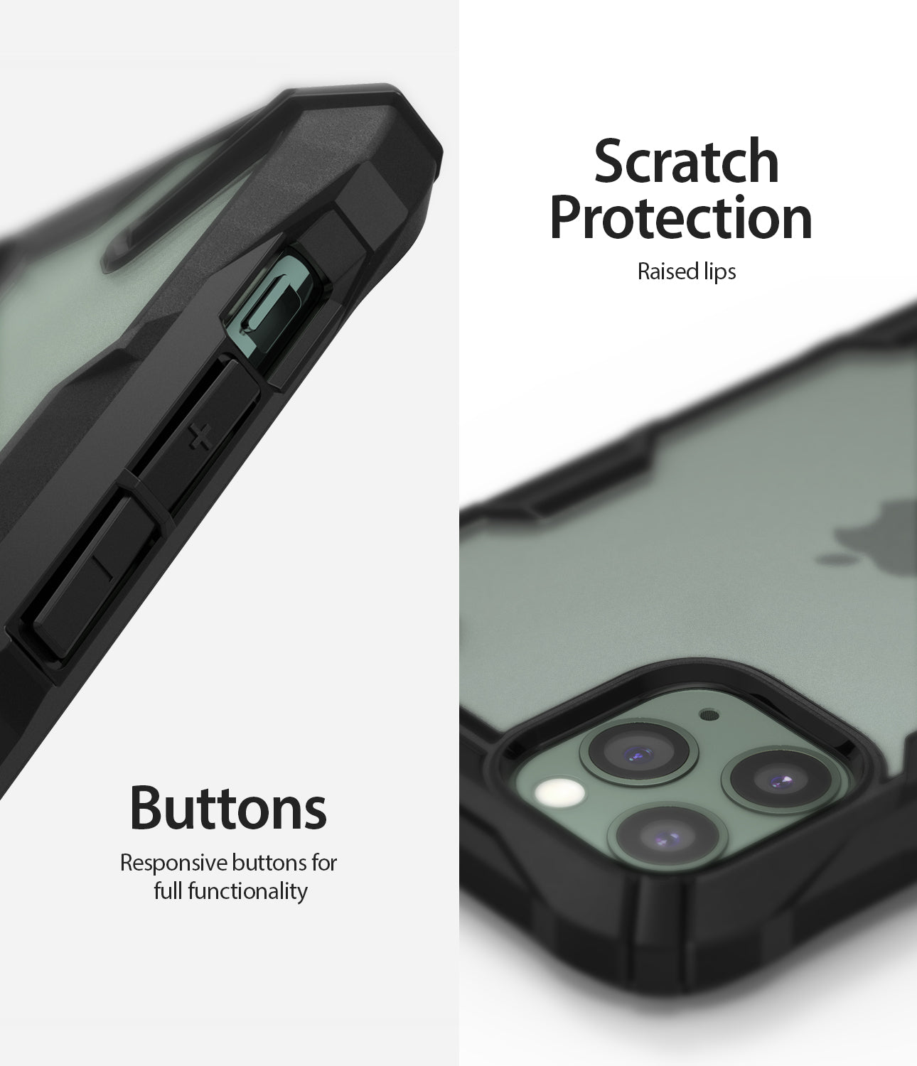 Ringke Fusion-X Matte Designed Case for iPhone 11 Pro Matte Dark Green raised bezel scratch protection buttons