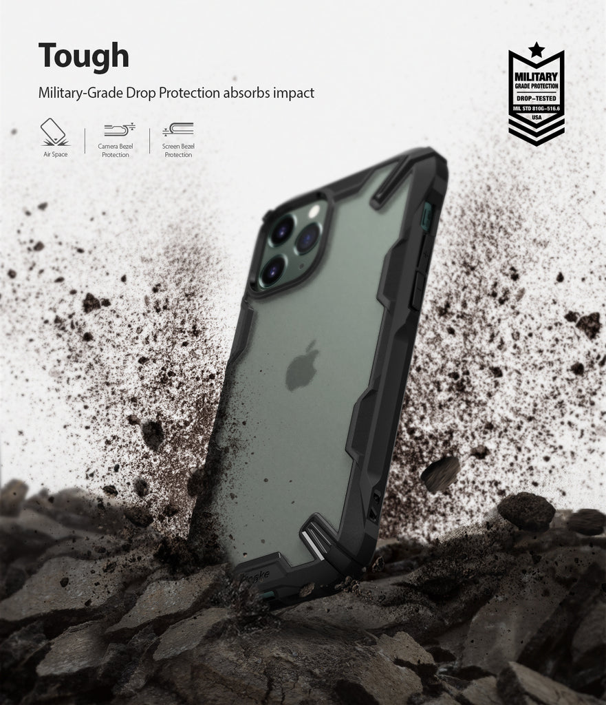 Ringke Fusion-X Matte Designed Case for iPhone 11 Pro Matte Dark Green military grade drop protection