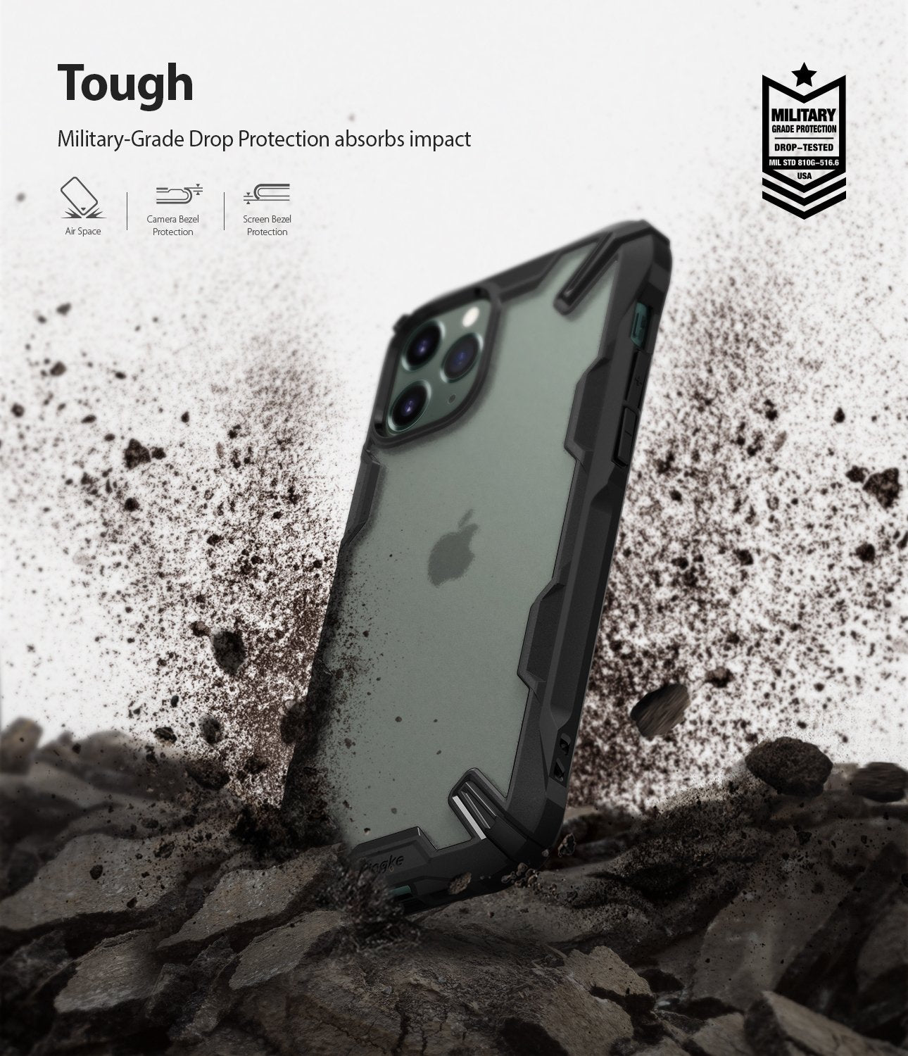 Ringke Fusion-X Matte Designed Case for iPhone 11 Pro Max military grade drop protection