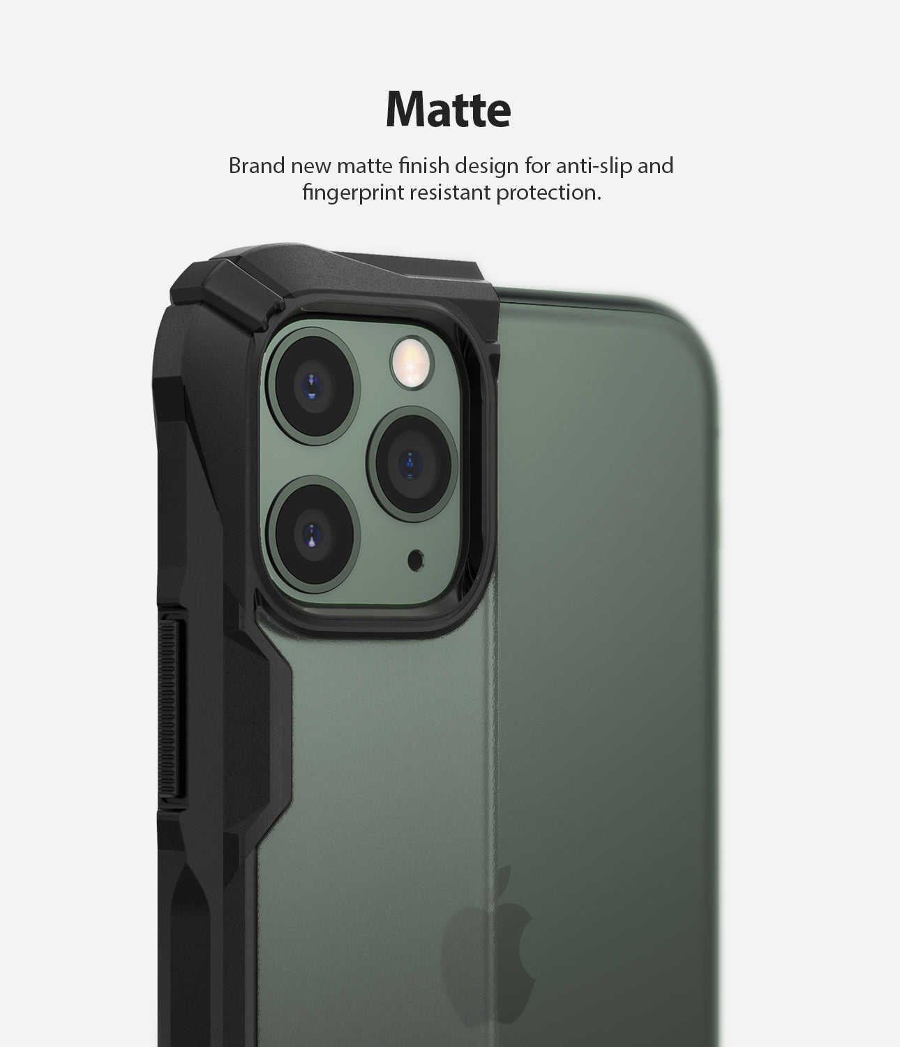 Ringke Fusion-X Matte Designed Case for iPhone 11 Pro Matte Dark Green
