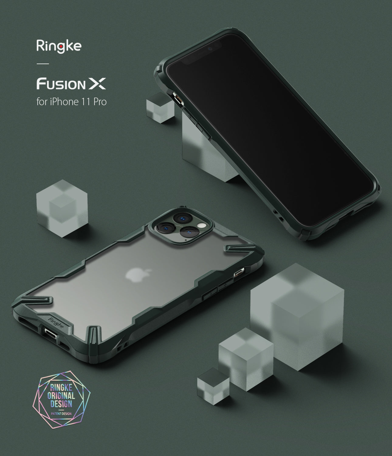 Ringke Fusion-X Matte Designed Case for iPhone 11 Pro