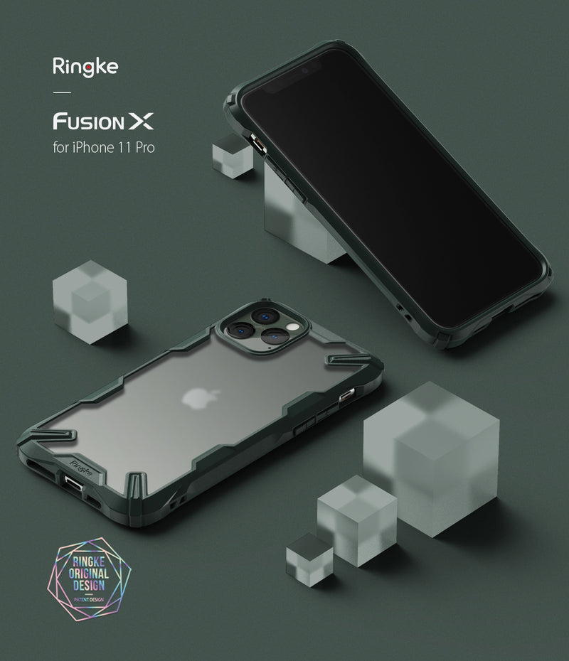 Ringke Fusion-X Matte Designed Case for iPhone 11 Pro (2019)_Matte Dark Green