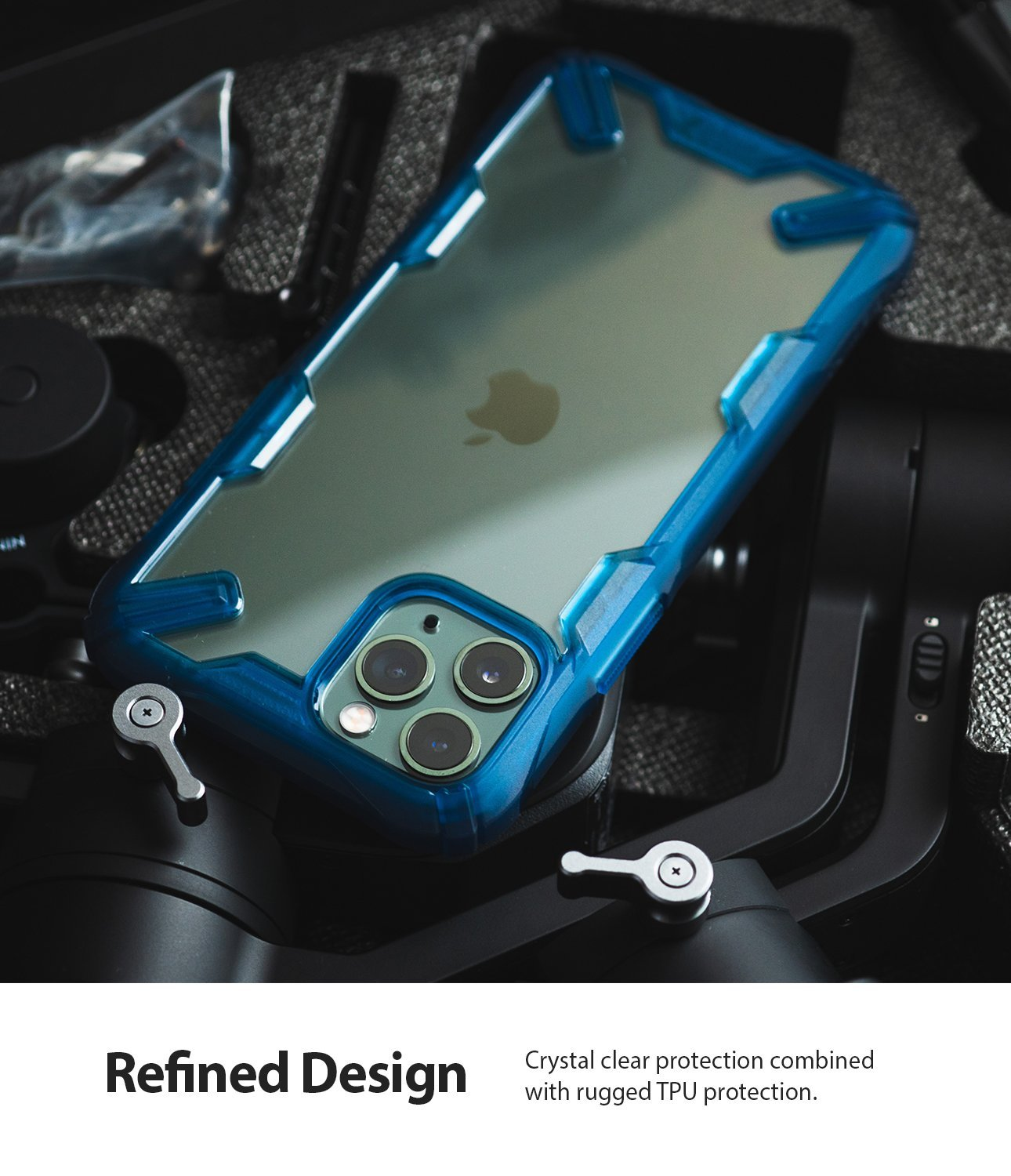 Ringke Fusion X Designed for apple iPhone 11 Pro MAX Case space blue refined design