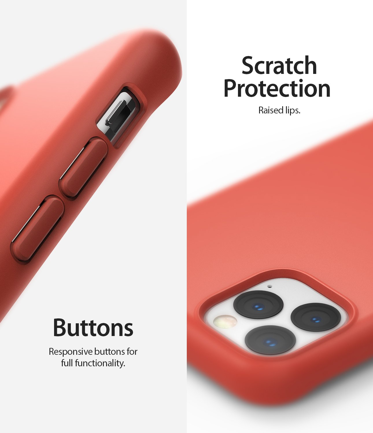 Ringke Air-S Designed for iPhone 11 Pro Max Case Scratch Protection Buttons
