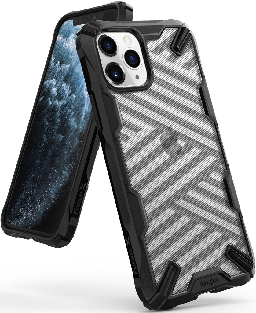 ringke fusion-x ddp case compatible with iphone 11 pro (2019) - Stripe Black