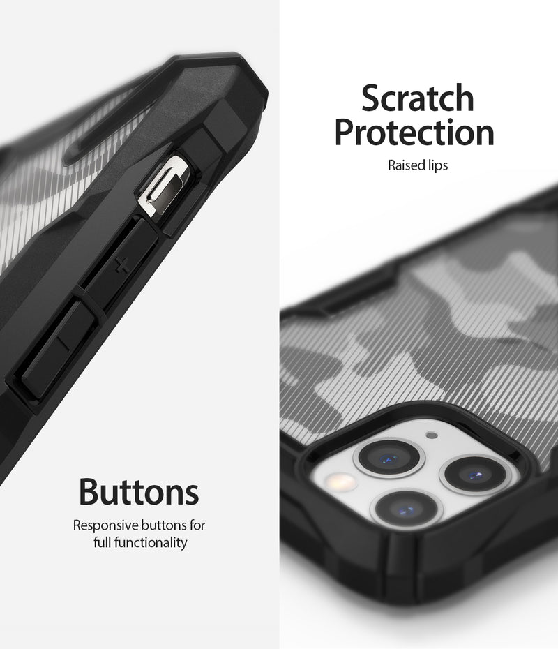 "Ringke Fusion X Design Case Compatible with iPhone 11 Pro Max Case Cover 6.5"" (2019) - Camo Black"