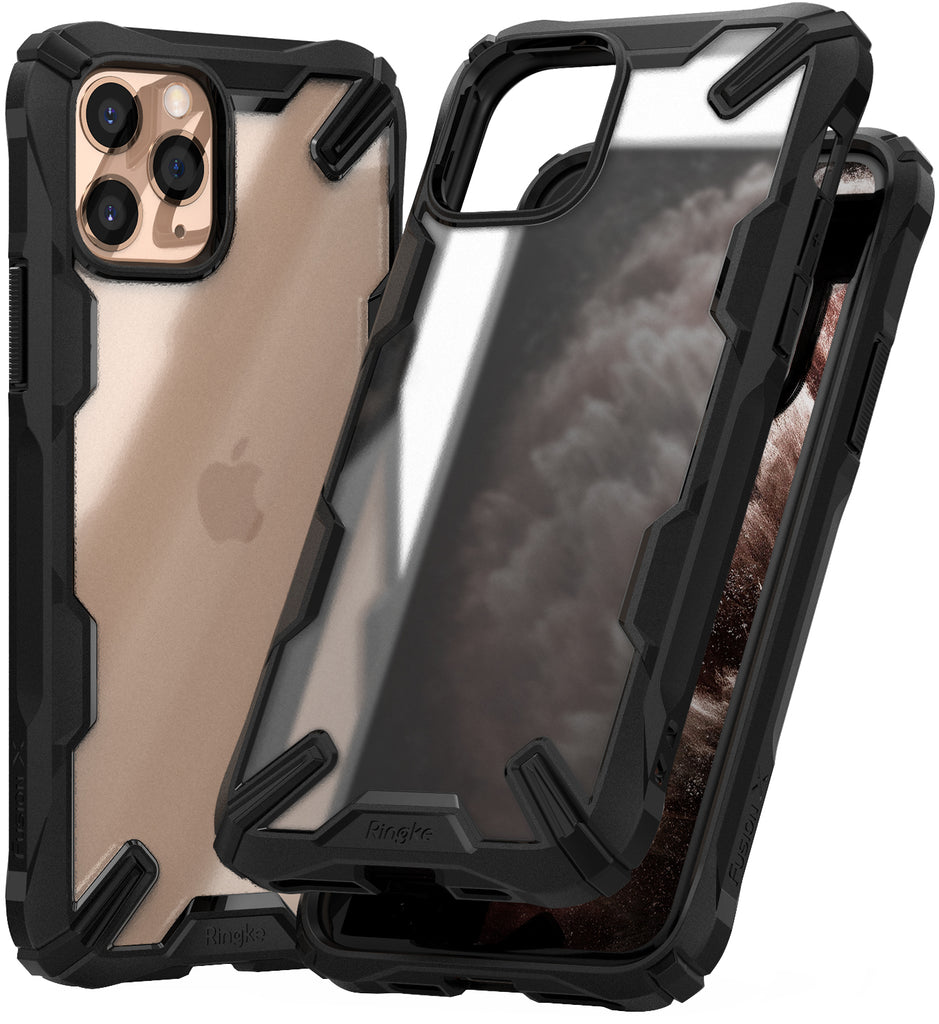 Ringke Fusion-X Matte Designed Case for iPhone 11 Pro Matte Black