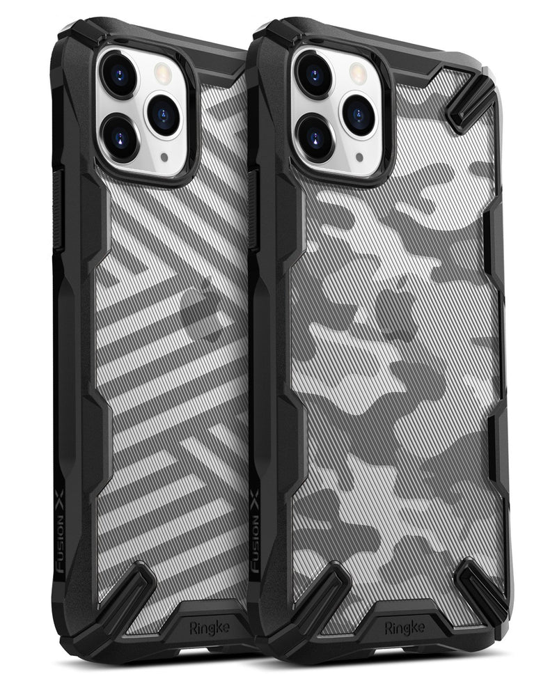 iPhone 11 Pro MAX [FUSION-X DDP]-stripe black, camo black