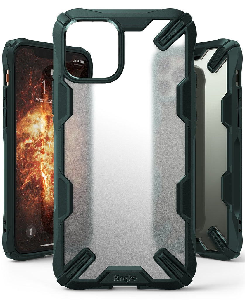 Ringke Fusion-X Matte Designed Case for iPhone 11 Pro Max Matte Dark Green
