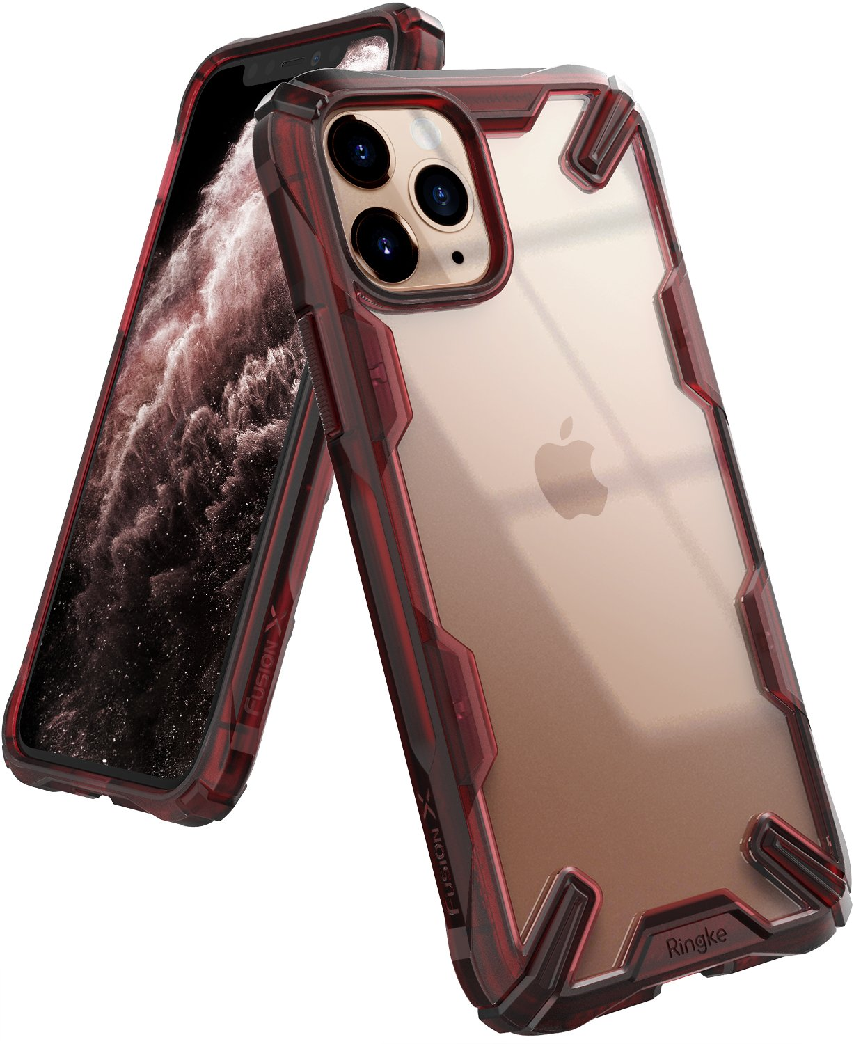 Ringke Fusion X Designed for apple iPhone 11 Pro MAX Case ruby red