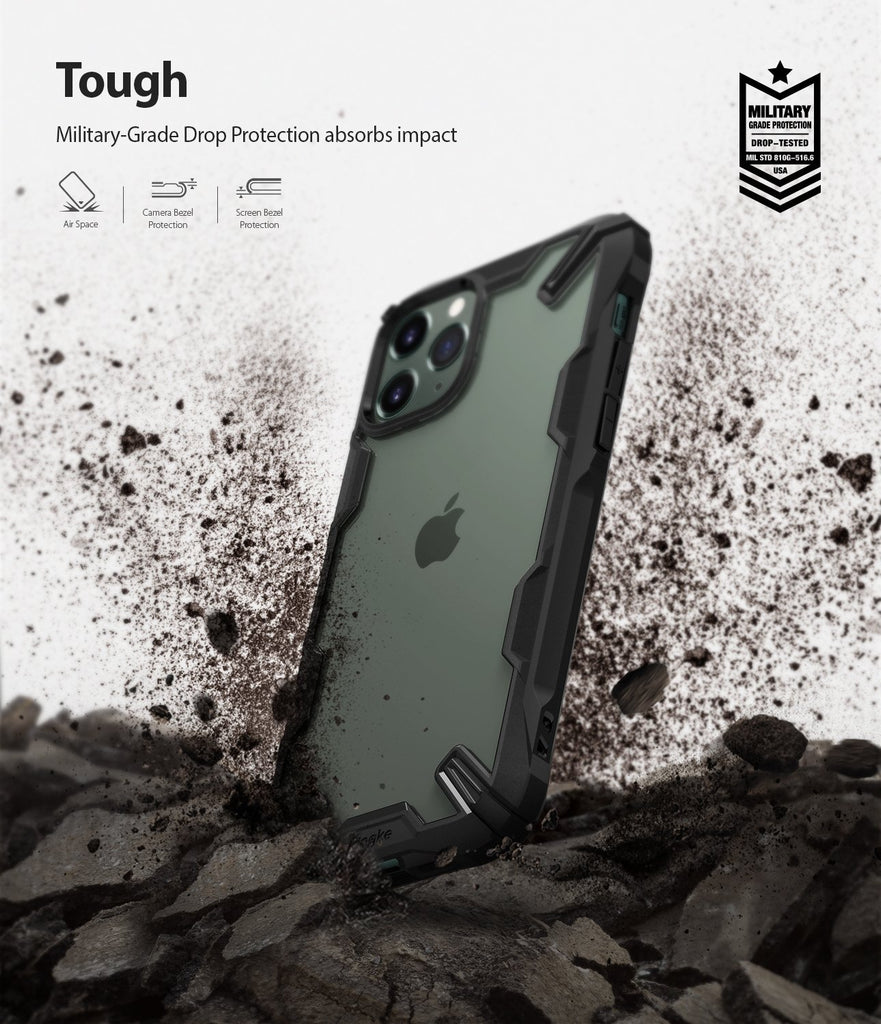 Ringke Fusion X Designed for apple iPhone 11 Pro MAX Case Black tough drop protection military protection