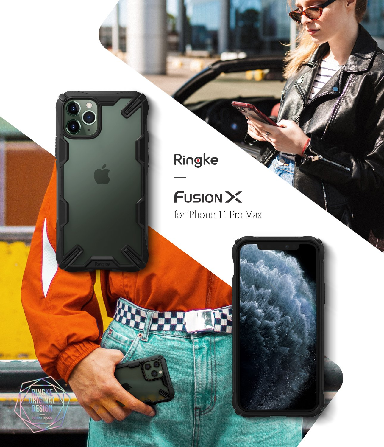 Ringke Fusion-X Matte Designed Case for iPhone 11 Pro Max
