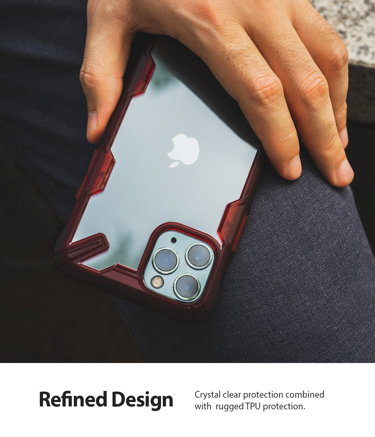 iPhone 11 Pro Case Fusion-X comfortable grip ruby red