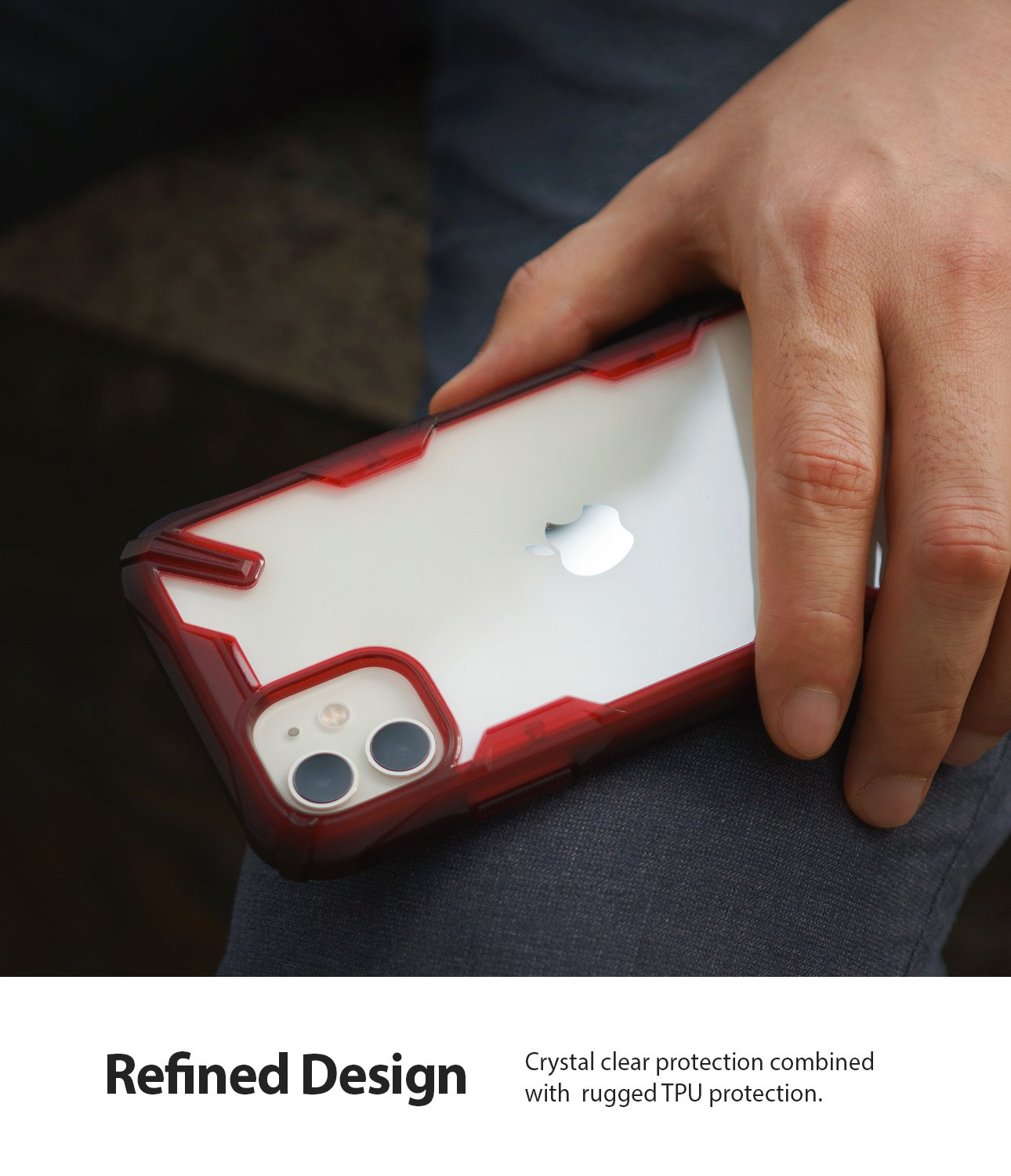 Ringke Fusion-X designed for iPhone 11 Ruby Red Refined Design