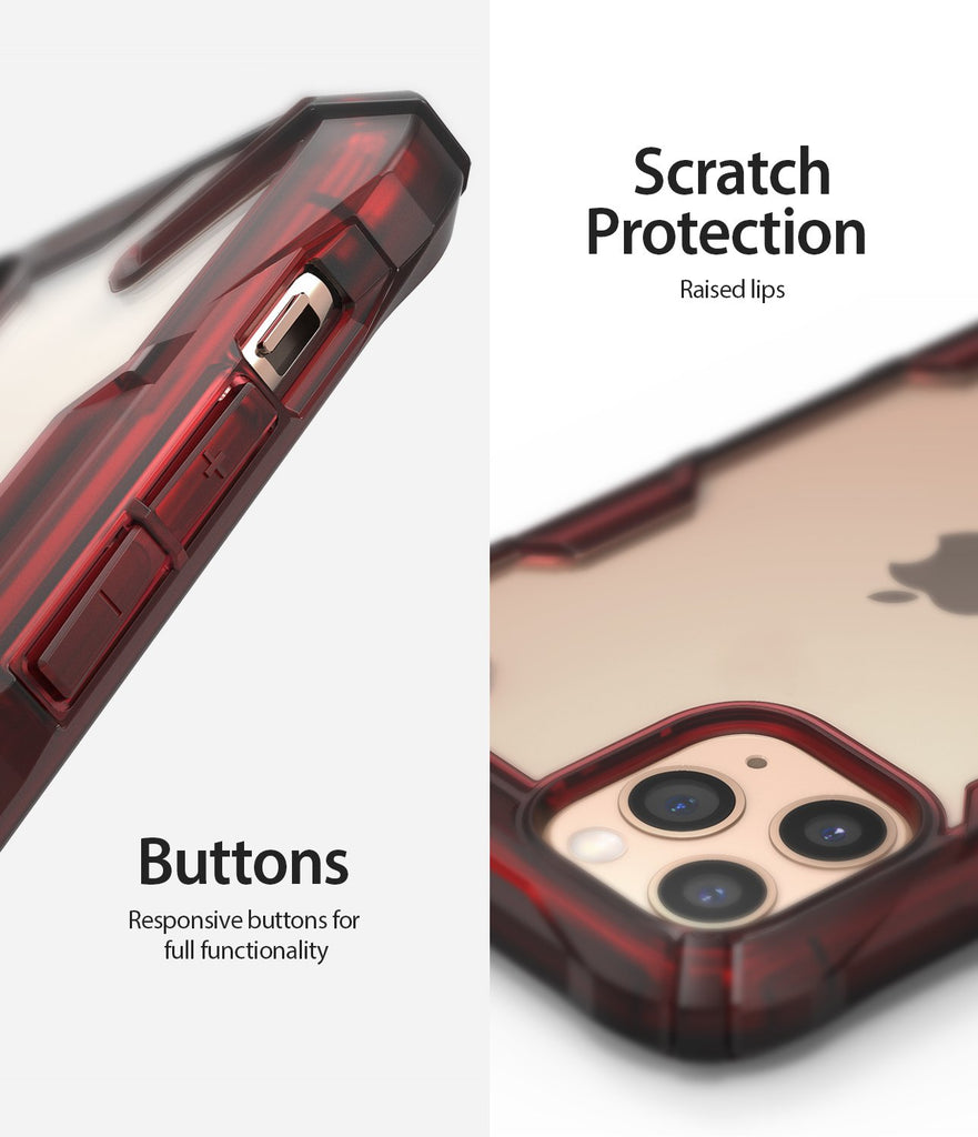 Ringke Fusion X Designed for apple iPhone 11 Pro MAX Case ruby red scratch protection buttons