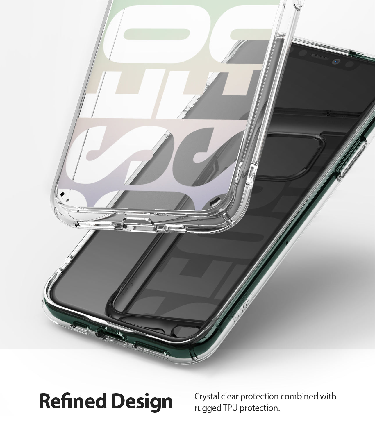 refined design - crystal clear protection combined with rugged tpu protection