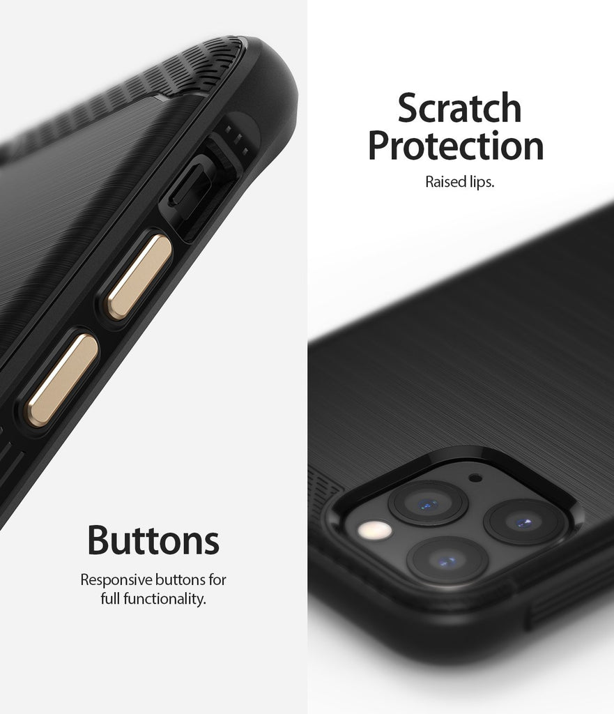 Ringke Onyx Case compatible with iPhone 11 Pro Black Scratch Protection Buttons