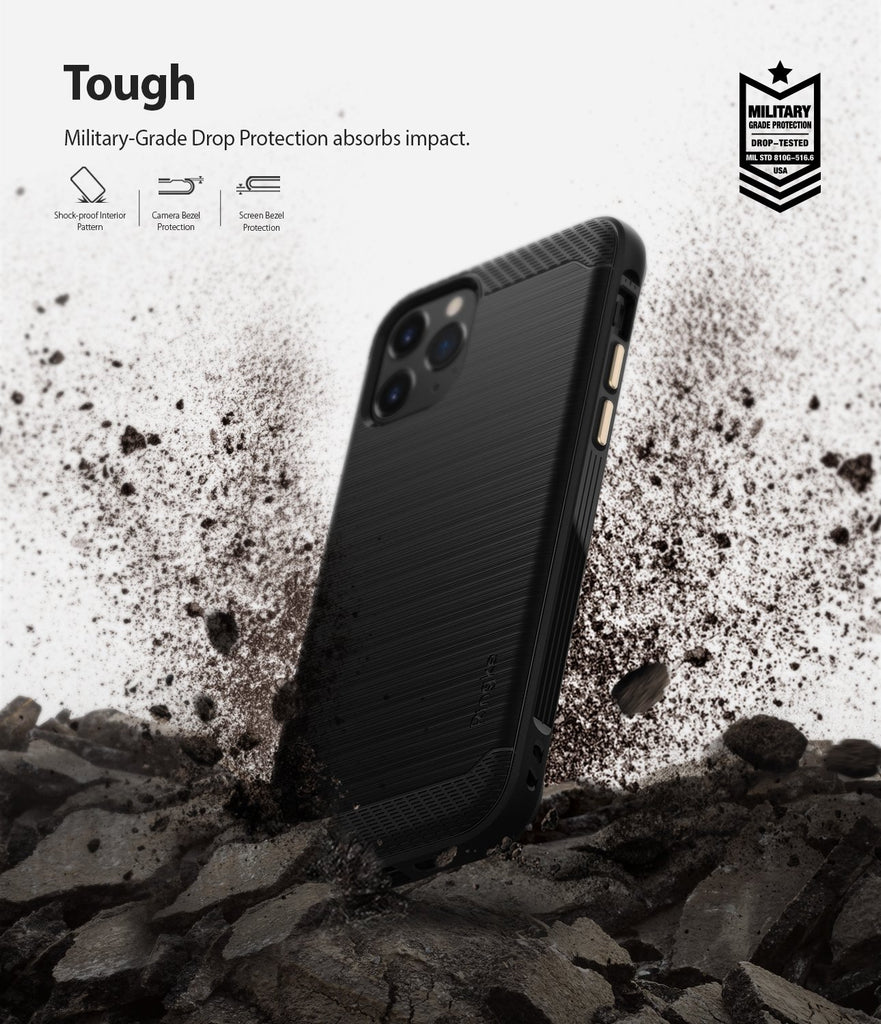 Ringke Onyx Case compatible with iPhone 11 Pro Black Military Grade Drop Protection