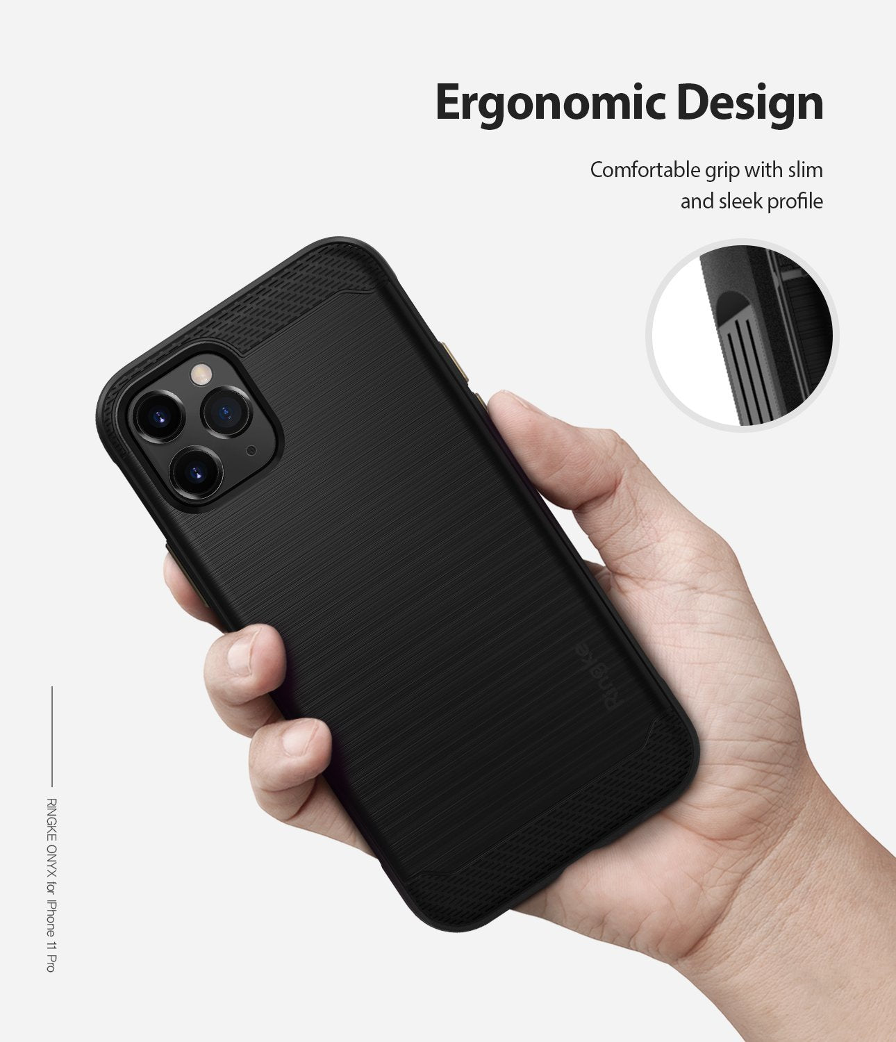 Ringke Onyx Case compatible with iPhone 11 Pro Black Comfortable Grip