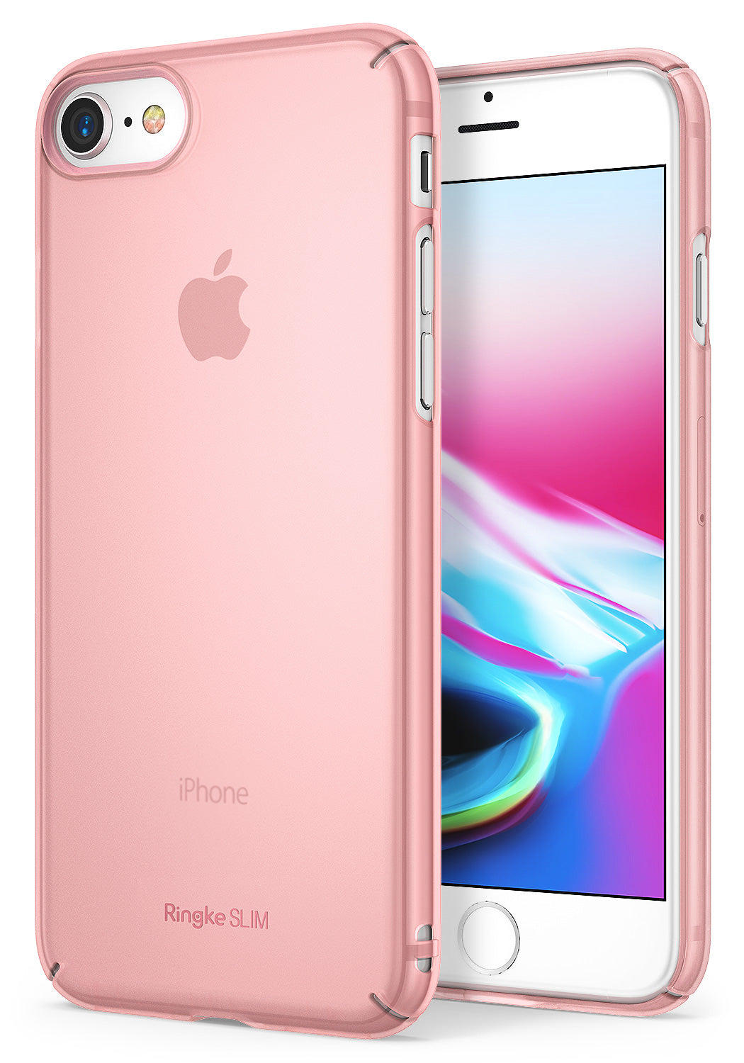 ringke slim hard pc thin protective case cover for iphone 7 8 main frost pink