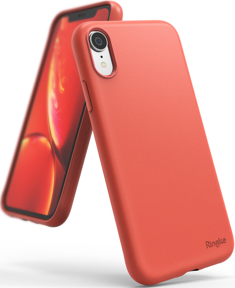 ringke air-s case compatible with apple iphone xr coral color sf coating