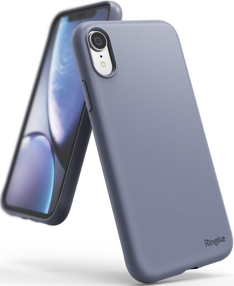 ringke air-s case compatible with apple iphone xr lavender gray color sf coating