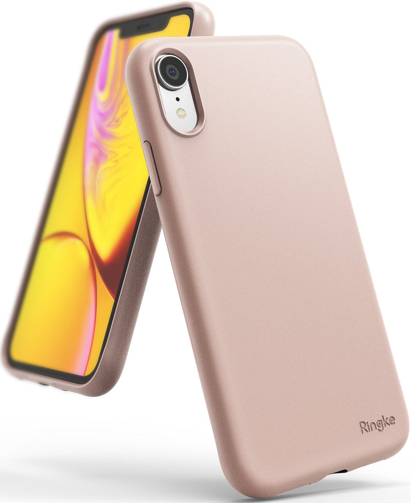 ringke air-s case compatible with apple iphone xr pink sand color sf coating