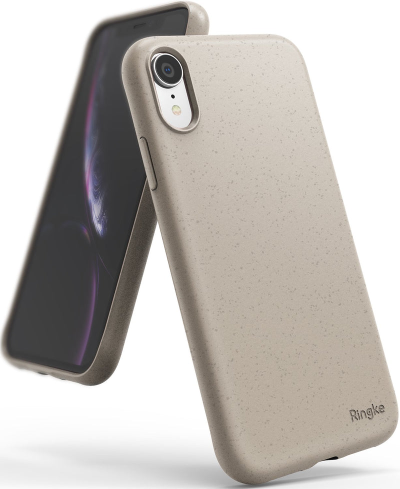 ringke air-s case compatible with apple iphone xr sand stone color sf coating