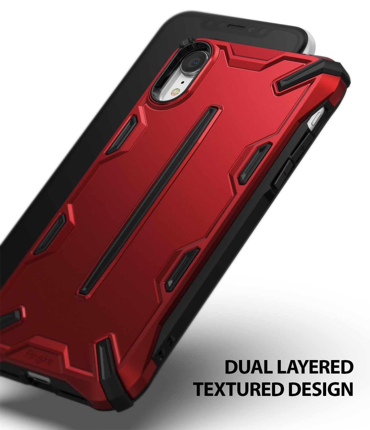 ringke dual-x for iphone xr case cover main dual layered design