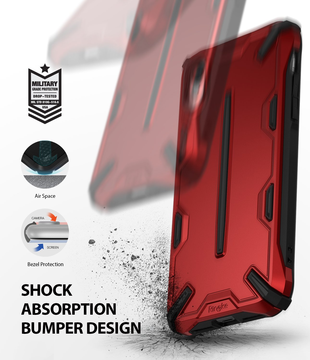 ringke dual-x for iphone xr case cover main shockproof protection