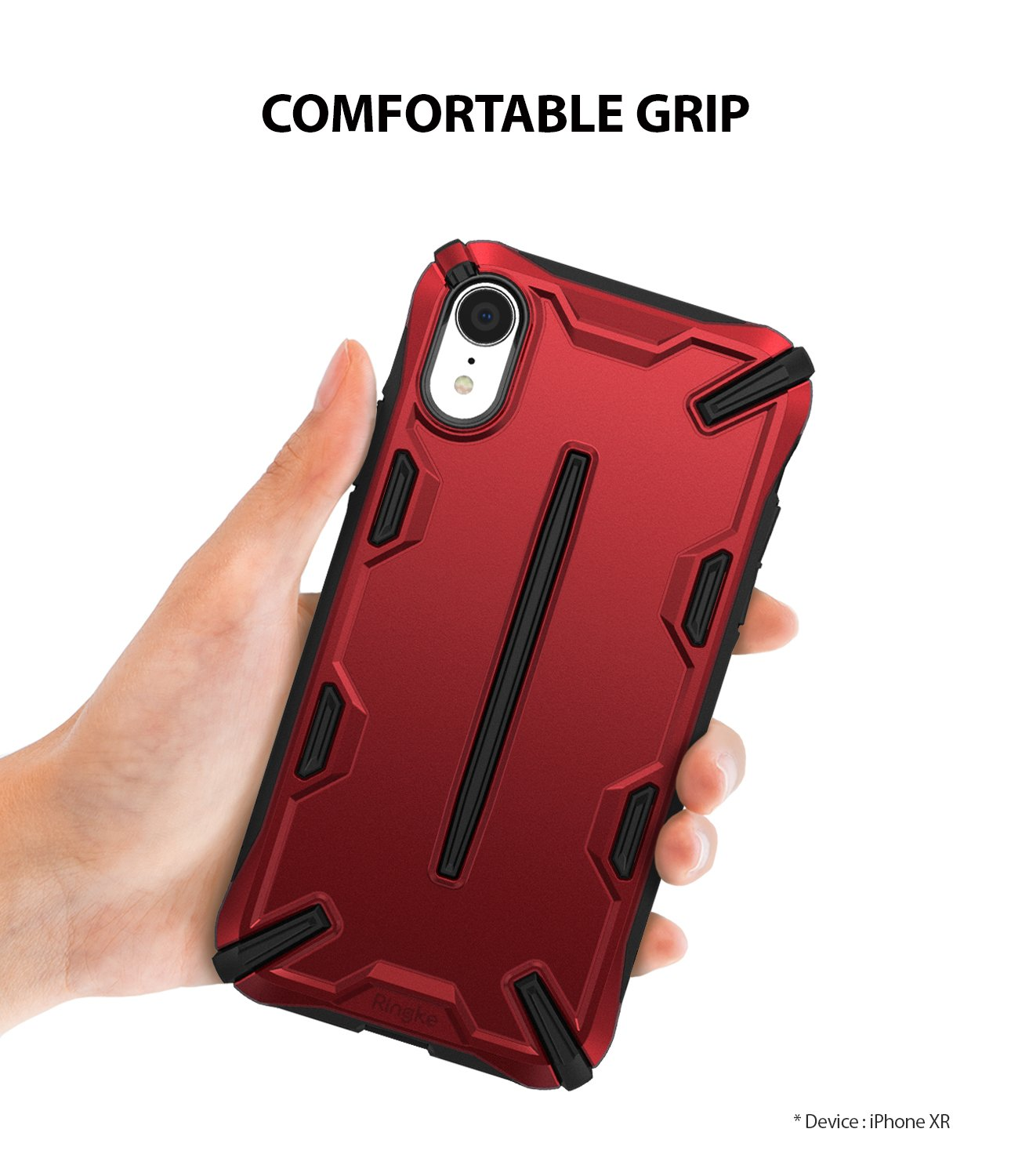 ringke dual-x for iphone xr case cover main comfortable grip