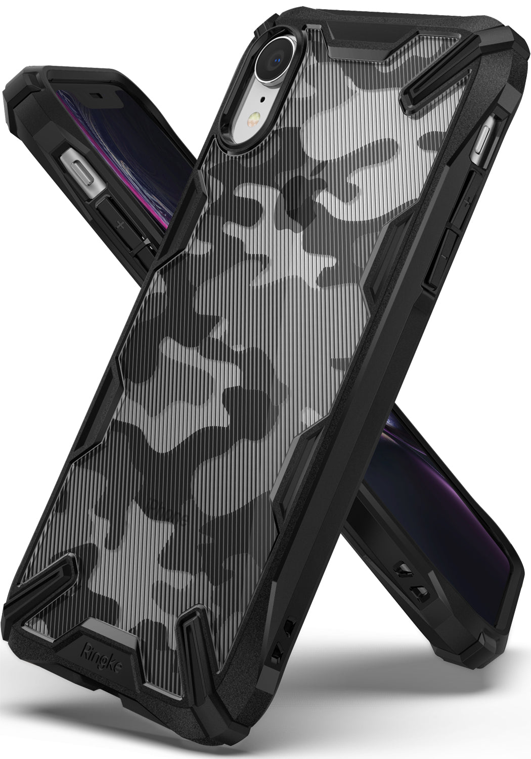 ringke fusion-x for iphone xr case cover main camo black