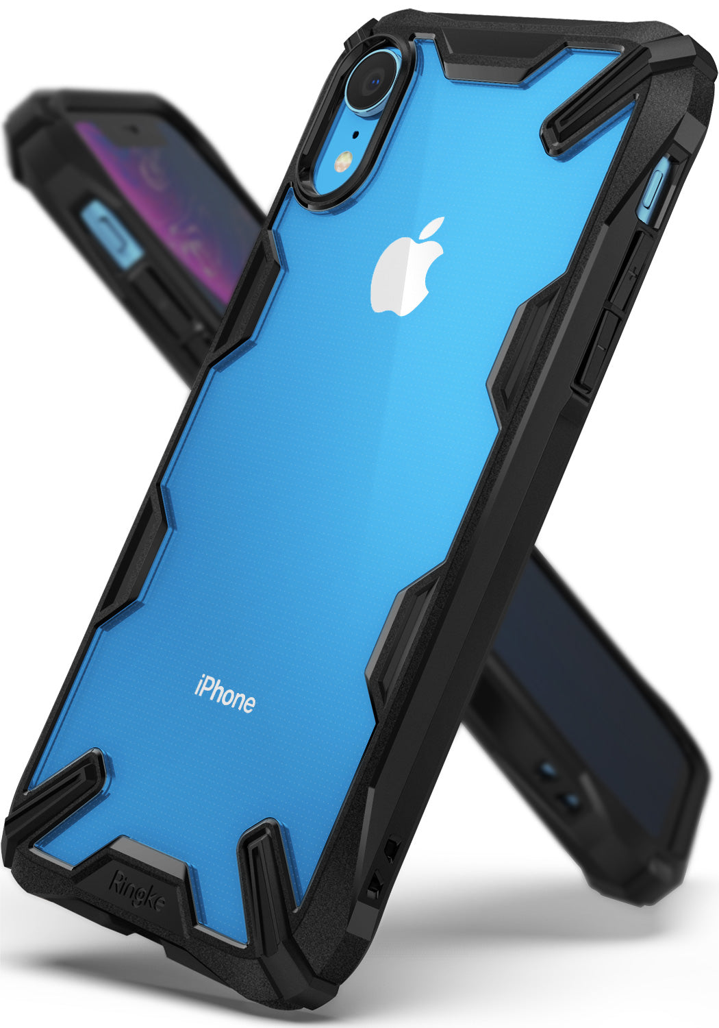 apple iphone xr case - ringke fusion-x black