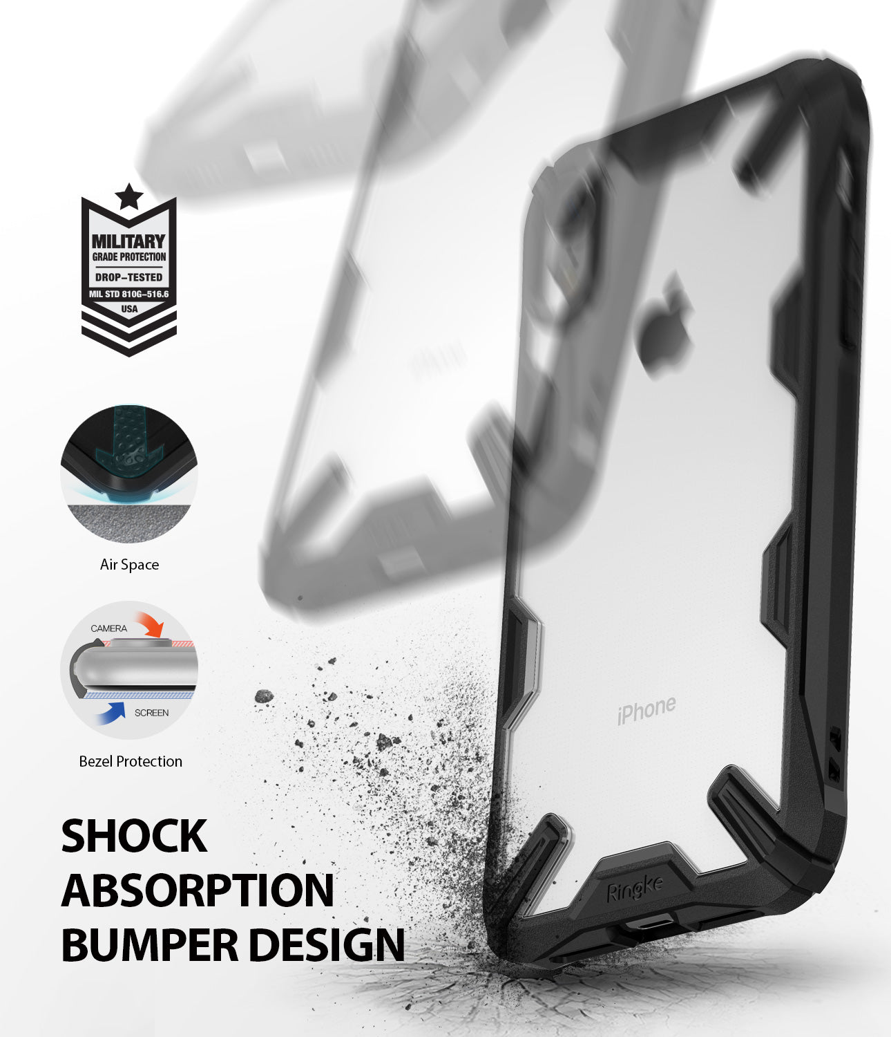 ringke fusion-x for iphone xr case cover shockproof protection